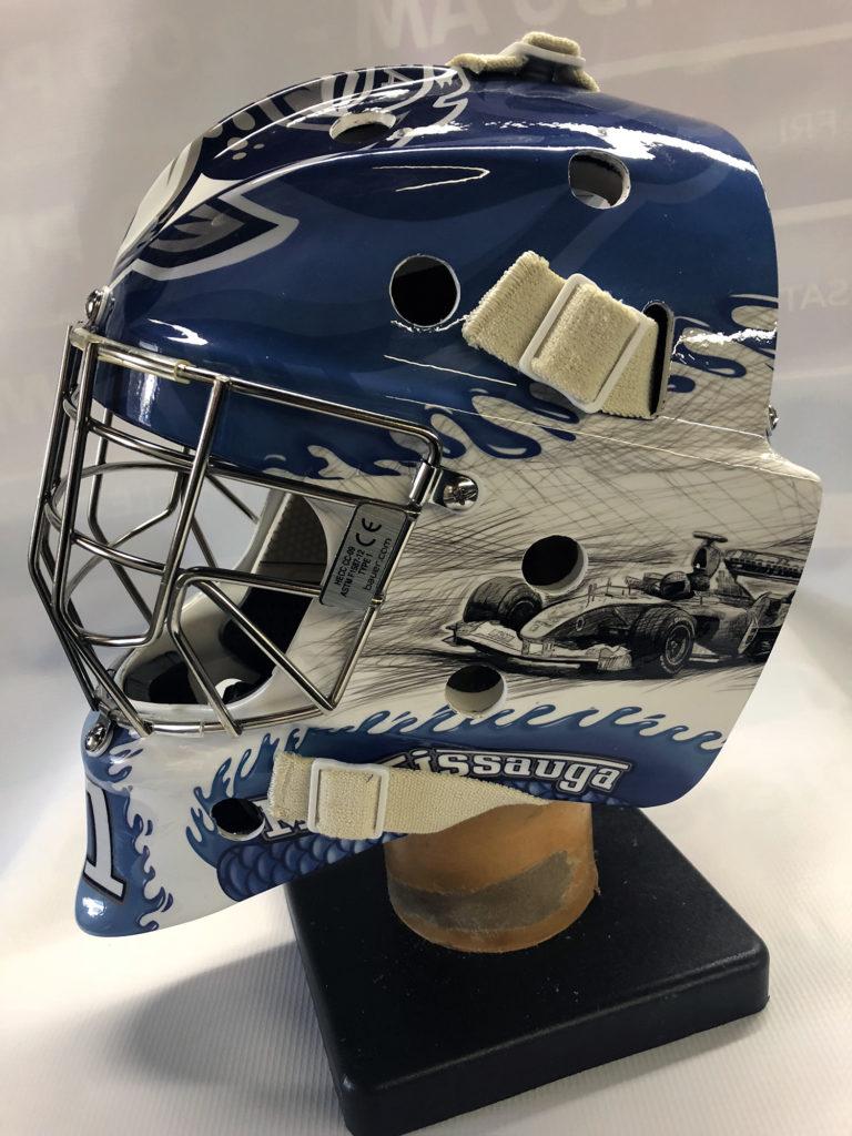 Steelheads goalie mask Photo 1